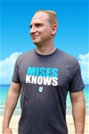 Mises Knows Premium Fitted T-shirt