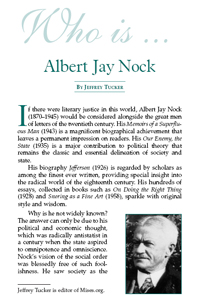 Who is Albert Jay Nock?