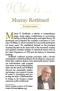 Who is Murray N. Rothbard