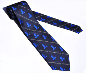 Mises Blue on Blue Tie
