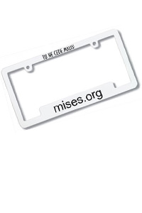 Mises License Plate Frame