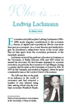 Who is Ludwig Lachmann?