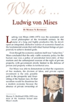 Who is Ludwig von Mises?