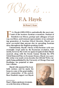 Who is F.A. Hayek?