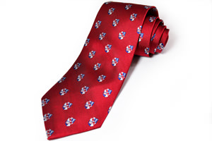Mises Crest Four-in-Hand Tie