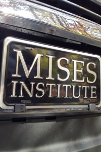 Mises Institute Auto License Plate
